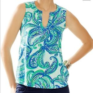 Lilly Pulitzer Pink Pelican Marlow Top